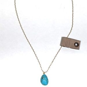 NWT Anthropologie turquoise pendant necklace